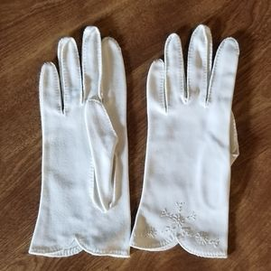 Vintage Ladies Snowflake Gloves